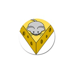 Cheese Mose Yellow Grey Golf Ball Marker