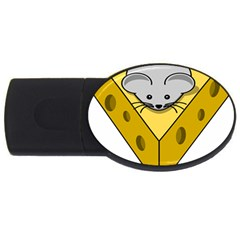 Cheese Mose Yellow Grey USB Flash Drive Oval (2 GB)