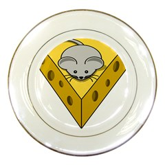Cheese Mose Yellow Grey Porcelain Plates