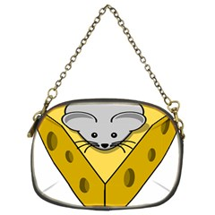 Cheese Mose Yellow Grey Chain Purses (Two Sides)
