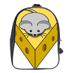 Cheese Mose Yellow Grey School Bags(Large)