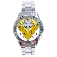 Cheese Mose Yellow Grey Stainless Steel Analogue Watch