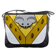 Cheese Mose Yellow Grey Messenger Bags