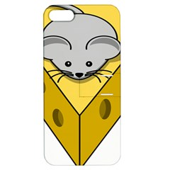 Cheese Mose Yellow Grey Apple iPhone 5 Hardshell Case with Stand