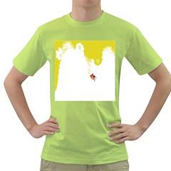 Fish Underwater Yellow White Green T-Shirt