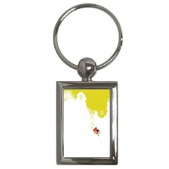 Fish Underwater Yellow White Key Chains (rectangle)