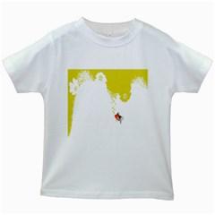 Fish Underwater Yellow White Kids White T Shirts