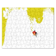 Fish Underwater Yellow White Rectangular Jigsaw Puzzl