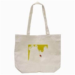 Fish Underwater Yellow White Tote Bag (Cream)