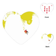 Fish Underwater Yellow White Playing Cards (heart)
