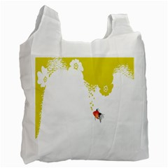 Fish Underwater Yellow White Recycle Bag (Two Side)
