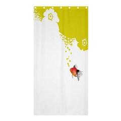Fish Underwater Yellow White Shower Curtain 36  x 72  (Stall)