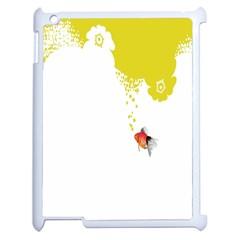 Fish Underwater Yellow White Apple iPad 2 Case (White)