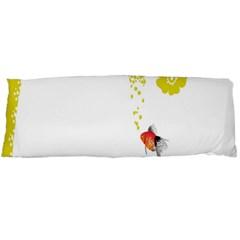 Fish Underwater Yellow White Body Pillow Case Dakimakura (Two Sides)