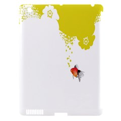 Fish Underwater Yellow White Apple iPad 3/4 Hardshell Case (Compatible with Smart Cover)