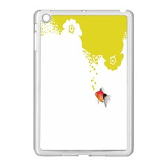 Fish Underwater Yellow White Apple iPad Mini Case (White)