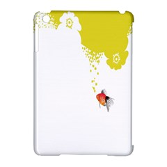 Fish Underwater Yellow White Apple iPad Mini Hardshell Case (Compatible with Smart Cover)
