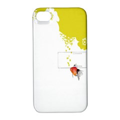 Fish Underwater Yellow White Apple iPhone 4/4S Hardshell Case with Stand