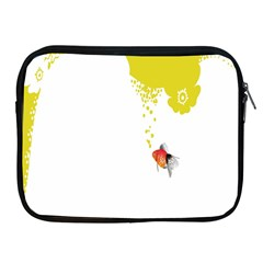 Fish Underwater Yellow White Apple iPad 2/3/4 Zipper Cases