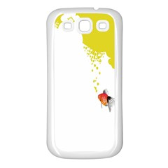 Fish Underwater Yellow White Samsung Galaxy S3 Back Case (white)
