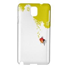 Fish Underwater Yellow White Samsung Galaxy Note 3 N9005 Hardshell Case