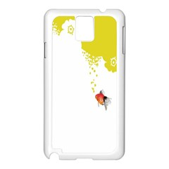 Fish Underwater Yellow White Samsung Galaxy Note 3 N9005 Case (White)