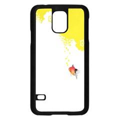 Fish Underwater Yellow White Samsung Galaxy S5 Case (Black)
