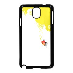 Fish Underwater Yellow White Samsung Galaxy Note 3 Neo Hardshell Case (Black)