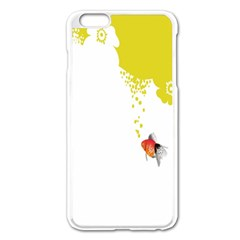 Fish Underwater Yellow White Apple Iphone 6 Plus/6s Plus Enamel White Case