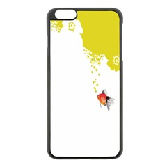 Fish Underwater Yellow White Apple iPhone 6 Plus/6S Plus Black Enamel Case
