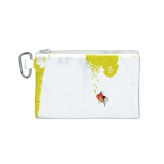 Fish Underwater Yellow White Canvas Cosmetic Bag (s)