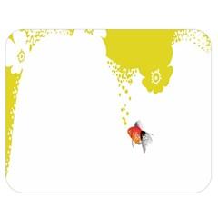 Fish Underwater Yellow White Double Sided Flano Blanket (Medium)