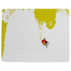 Fish Underwater Yellow White Jigsaw Puzzle Photo Stand (rectangular)