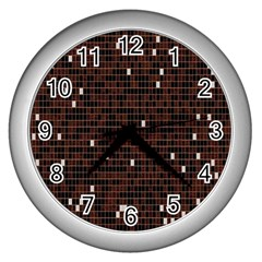 Cubes Small Background Wall Clocks (Silver)