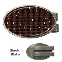 Cubes Small Background Money Clips (Oval)