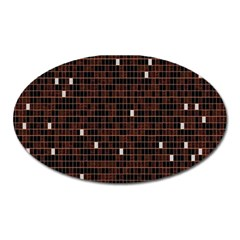 Cubes Small Background Oval Magnet