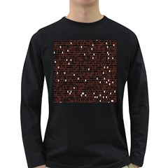 Cubes Small Background Long Sleeve Dark T-Shirts