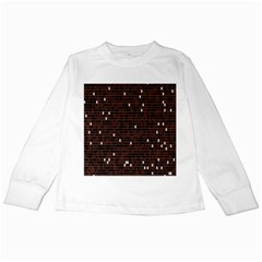 Cubes Small Background Kids Long Sleeve T-Shirts