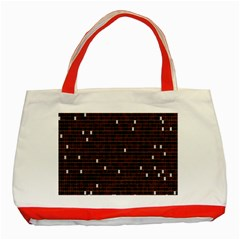 Cubes Small Background Classic Tote Bag (Red)