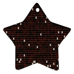 Cubes Small Background Star Ornament (two Sides)