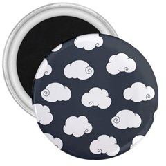 Cloud White Gray Sky 3  Magnets