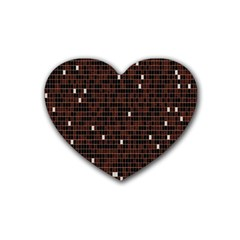 Cubes Small Background Heart Coaster (4 pack)