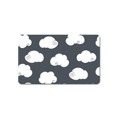 Cloud White Gray Sky Magnet (name Card)