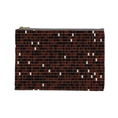 Cubes Small Background Cosmetic Bag (large)