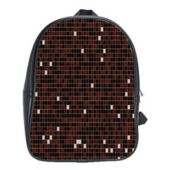 Cubes Small Background School Bags(large)