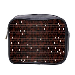 Cubes Small Background Mini Toiletries Bag 2 Side