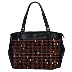 Cubes Small Background Office Handbags (2 Sides)