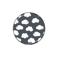 Cloud White Gray Sky Hat Clip Ball Marker (4 Pack)