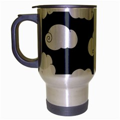 Cloud White Gray Sky Travel Mug (silver Gray)