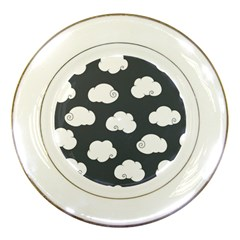 Cloud White Gray Sky Porcelain Plates